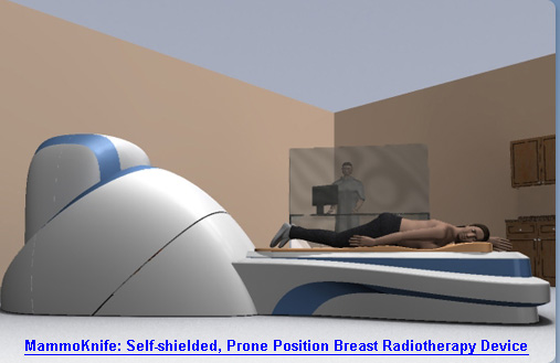 MammoKnife : Self-Shielded, Prone Position Breast Radiotherapy Device